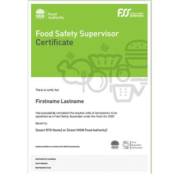 NSW Foos Safety Supervisor Certificate Online