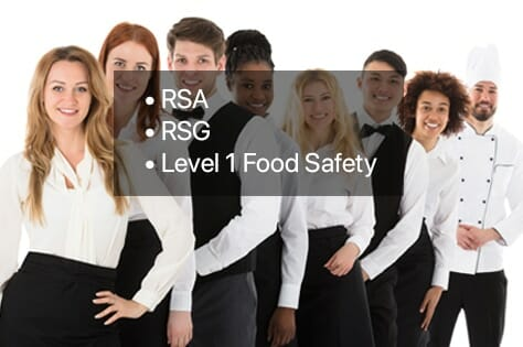 Hospitality-Plus Bundle, RSA, RSG, Level 1 Food Safety Training Courses